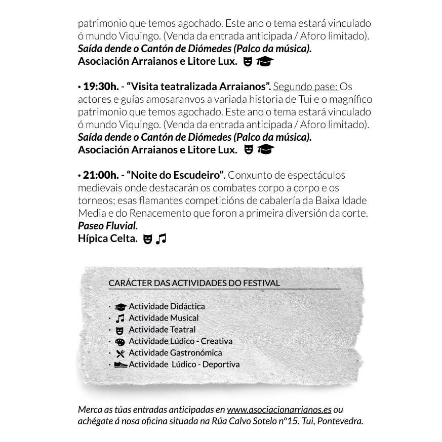 Arraianos 2019 - Programa