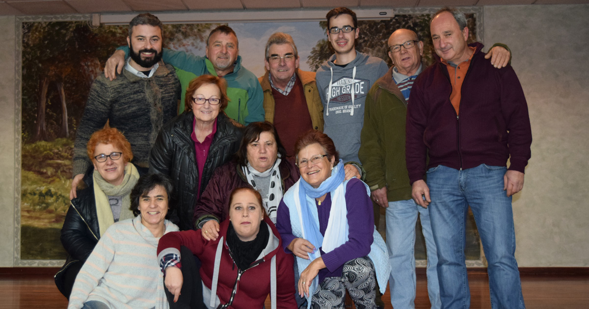 Grupo de teatro da Asociación Cultural San Fins de Rebordáns