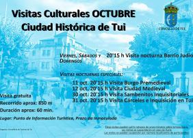 Cartel visitas guiadas outubro